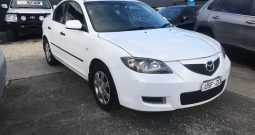 2007 MAZDA 3 Sedan Auto white 2.0  (Finance  $31 pw**)